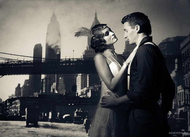 Engagement: restyling USA in 1930s style. Photography: Mukhina.ru