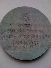 Photo of Maria Fitzherbert grey plaque