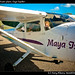 Dawn in private plane, Caye Caulker