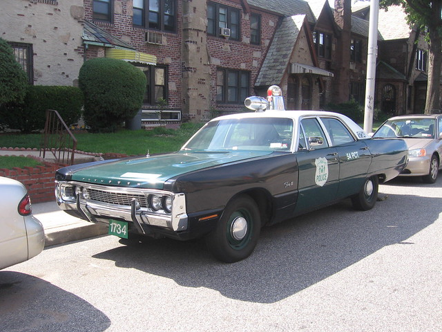 1970 Plymouth Police Car Nyc