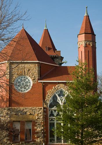 church chapel gargoyle kansas leavenworth