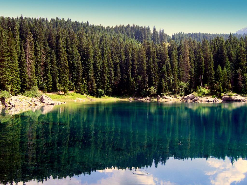 Озеро Карецца фото