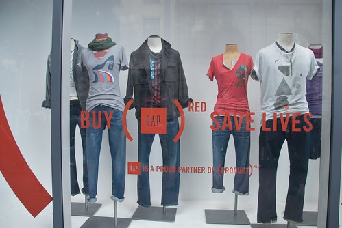 Gap's (PRODUCT) RED Artist Edition t-shirts 2009