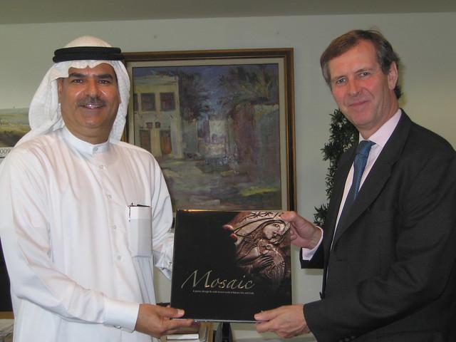 British Ambassador Jamie Bowden met with Dr. Ali Hassan Follad