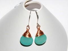 Hemimorphite earrings
