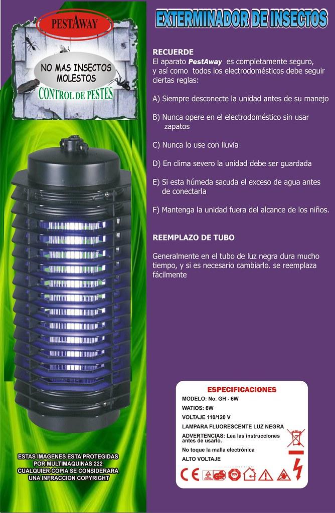 Lampara mata insectos zancudos mosquitos en - Lampara mata mosquitos ...