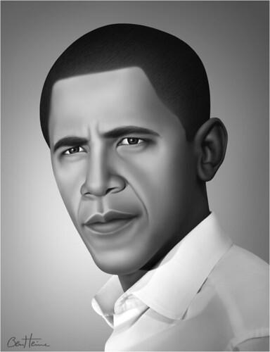 Barack Obama - Realistic Portrait - 3 -