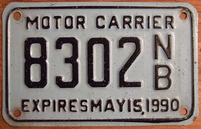 New Brunswick Expires May 15 1990 Motor Carrier Plate Flickr Photo Sharing