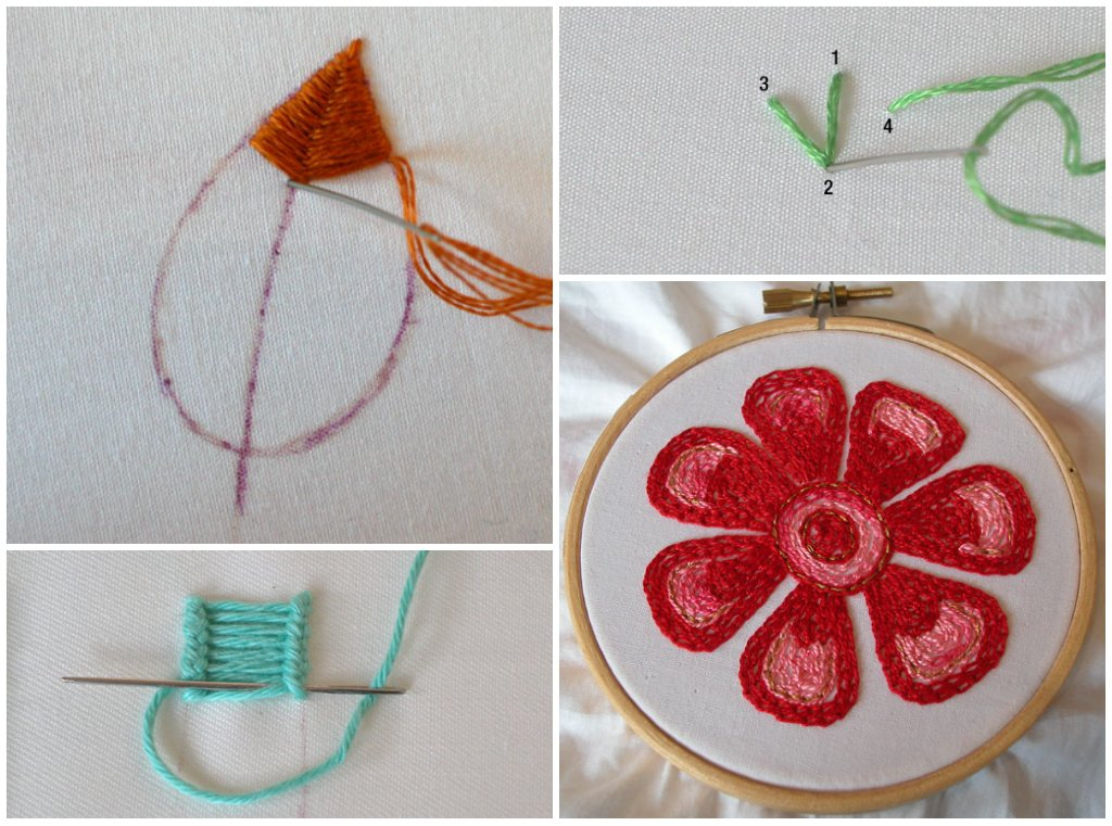 Hand Embroidering Stitches - Free Embroidery Patterns