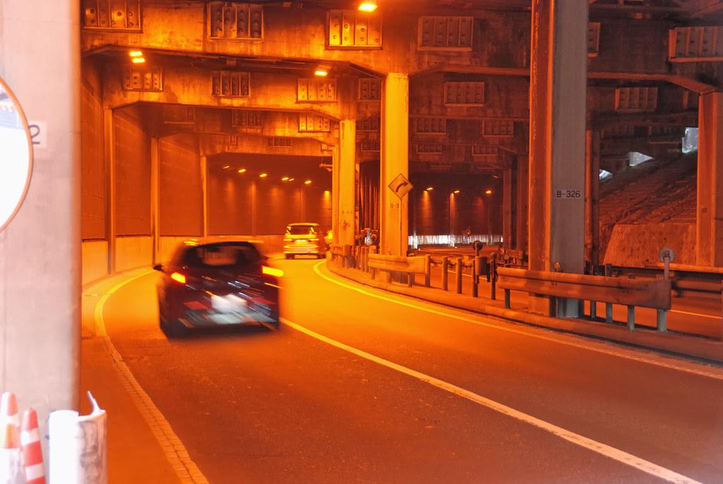 Tunnel under Shutoko Meguro Line