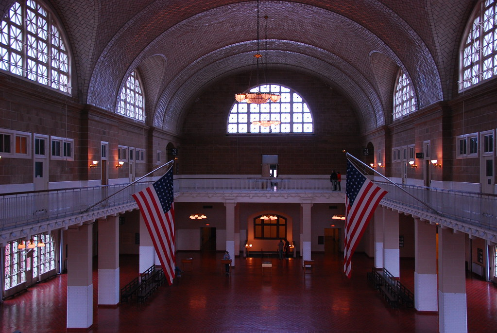 Ellis Island hall end