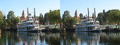 Disneyland - Mark Twain Docked 3D Stereogram