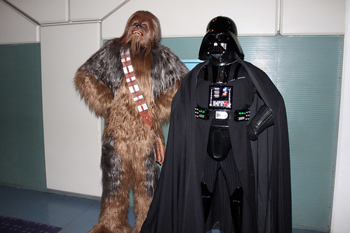 Chewbacca and Darth Vader