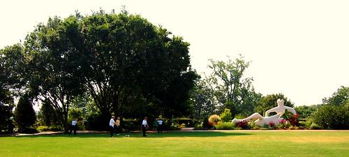 sculpture outdoors atlantabotanicalgarden henrymoore taichiclass