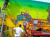 Mural de os Gemeos do So Paulo no Nova Iorque- Muralist and Graffitti Artist The Twins from Sao Paolo in New York City