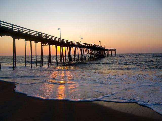 Avon pier sunrise flickr photo sharing for Vero beach fishing pier