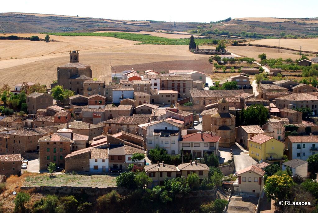 Vista de Torres del Río desde Sansol, Navarra
