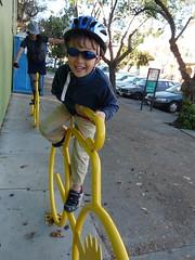 Yellow Bike Rack