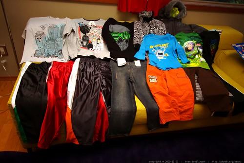 a plethora of clothing from grandma neeta and grandpa jeff    MG 8212
