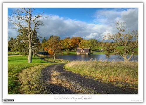 autumn ireland fall clouds pond estate path carton 1001nights boathouse maynooth hdr pathway jol kildare localhistory photomatix tonemapped tthdr flickraward cartonestate