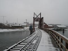 (Private) bridge in downtown Carcross, Yukon - part 1
