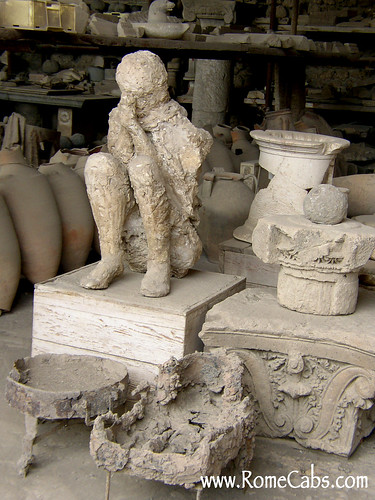 Human cast and remains of a shop. Image courtesy Rome Cabs.