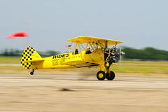aviation, biplane, airplane, propeller driven aircraft, yellow, wing, vehicle, light aircraft, boeing-stearman model 75, ultralight aviation, aircraft engine, air show,