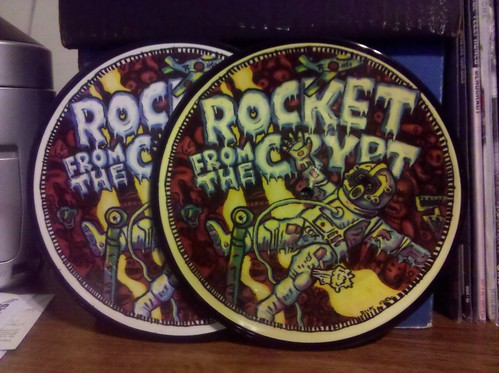 "Rocket From The Crypt - Boychucker Picture Disc 7"" - Tan Paper"