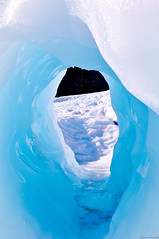 An Ice Tunnel by strawberrylee