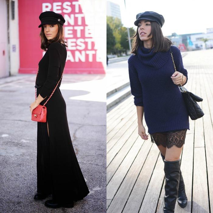 gorra negra the fashion through my eyes
