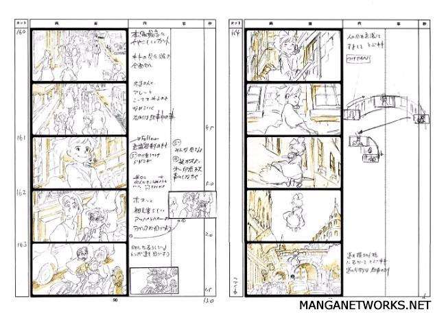 32306688123 e10310661b o 16 Storyboards của Studio Ghibli sẽ khiến bạn muốn xem lại Movie ngay lập tức !!