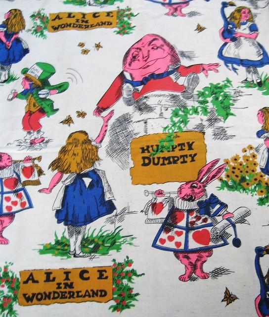 Vintage Alice In Wonderland Fabric 72