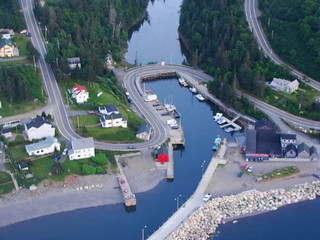 Aerial View Hall's Harbour
