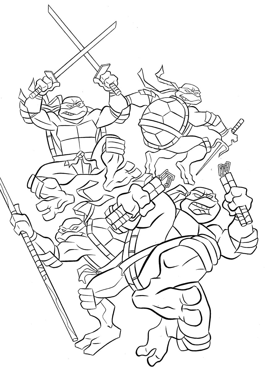 girl ninja turtles coloring pages - photo#6