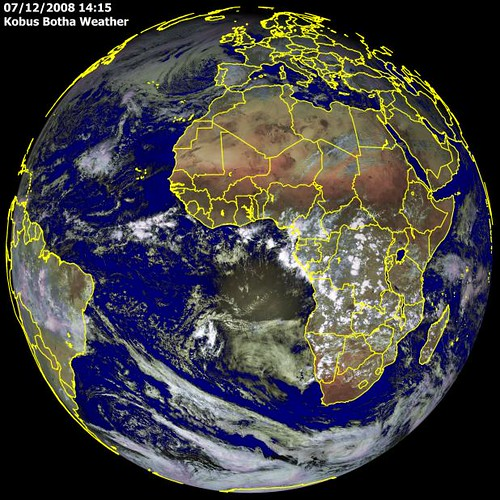 Visible Weather Satellite Photo Of Europe And Africa By K