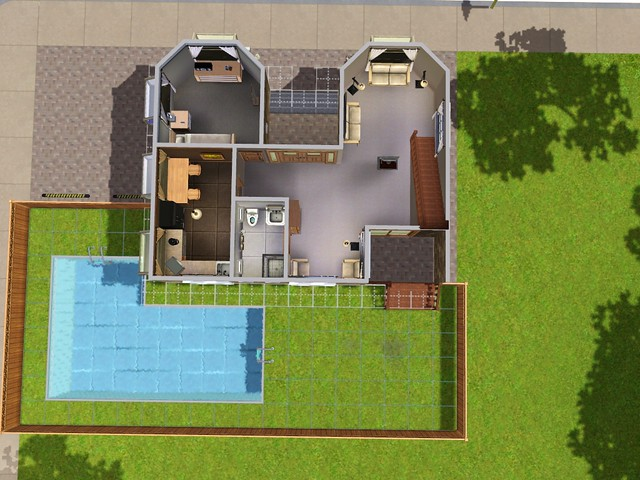 Floor Plans For A Sims 3 Challenge House Flickr Photo