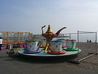 Tea on the beach for six at Worthing