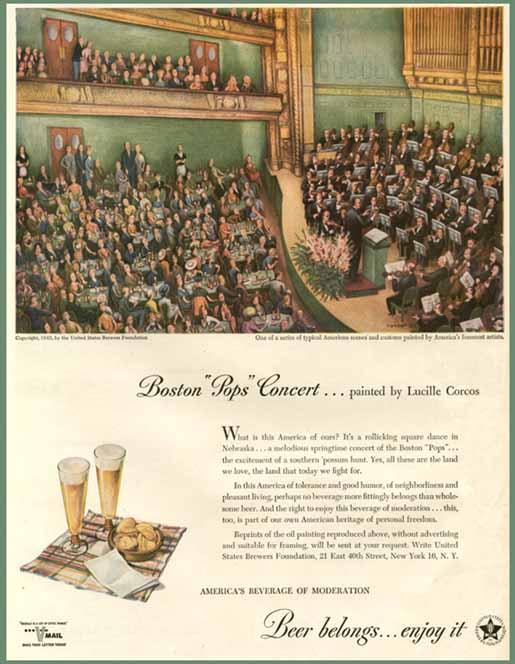 Boston Pops Concert by Lucille Corcos, 1945