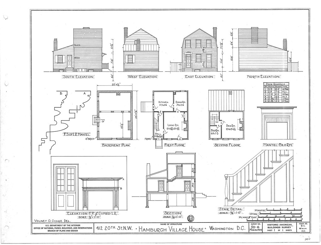 Hamburgh Village House drawings   From Liry of Congress ... on