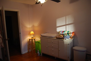 The changing area and dresser