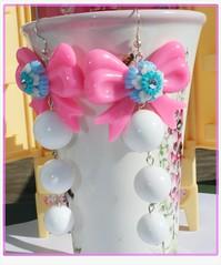 Vintage Bead and Flower Earrings