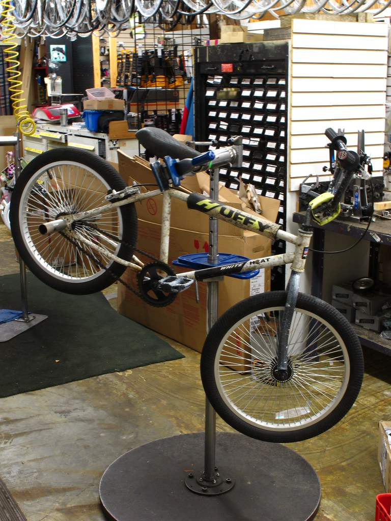 Houston Texas This piece of shit has the worlds toughest frame on it A early 80's BMX Huffy White Heat It was abandoned two years ago in front of a bike shop with all the original parts on it So I sta
