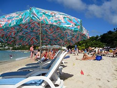 view from my chair on grand anse