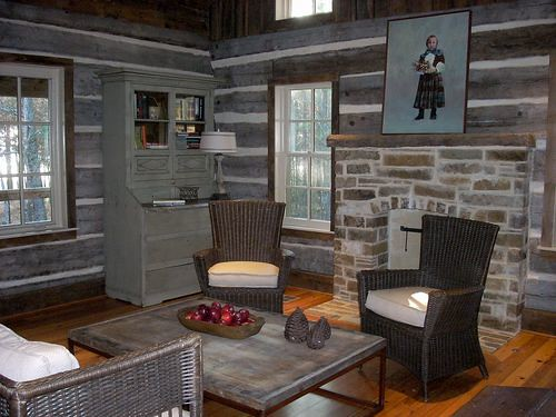 Log Home Living Room Flickr Photo Sharing