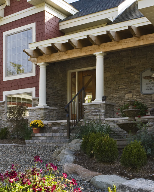 The Lexington Timber Frame Home Front Porch A Photo On
