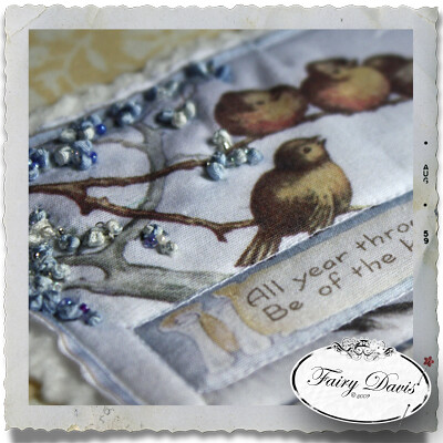 Fabric Scrapbook, Journal, or Photo Album: Little Birdies
