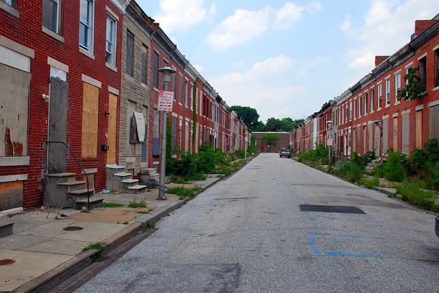 Row Houses In Baltimore Md : Abandoned row houses perlman place baltimore a photo