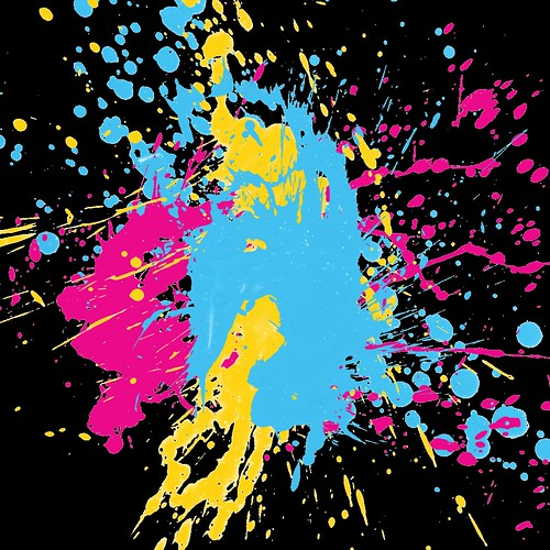 Neon Paint Splatter | Flickr - Photo Sharing!  Neon Paint Spla...