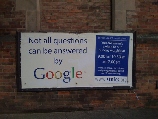 Not all questions can be answered by Google from Flickr via Wylio