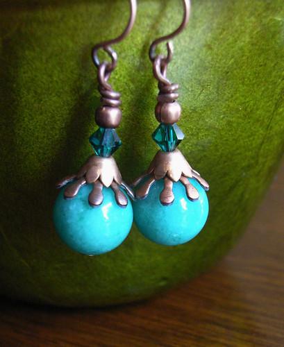 ET2 Copper Turquoise Earrings